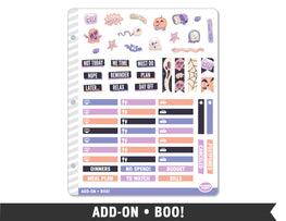 Add-On • Boo! Planner Stickers - Planner Penny