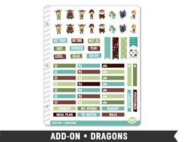 Add-On • Dragons Planner Stickers - Planner Penny