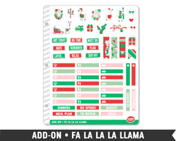 Add-On • Fa La La La Llama Planner Stickers