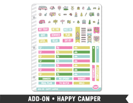 Add-On • Happy Camper Planner Stickers