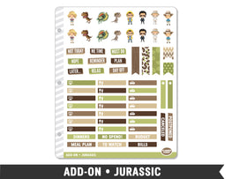 Add-On • Jurassic Planner Stickers - Planner Penny