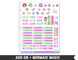 Add-On • Mermaid Magic Planner Stickers - Planner Penny
