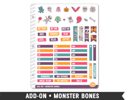 Add-On • Monster Bones Planner Stickers - Planner Penny