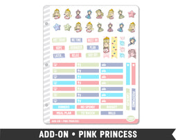 Add-On • Pink Princess Planner Stickers - Planner Penny