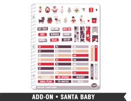 Add-On • Santa Baby Planner Stickers - Planner Penny