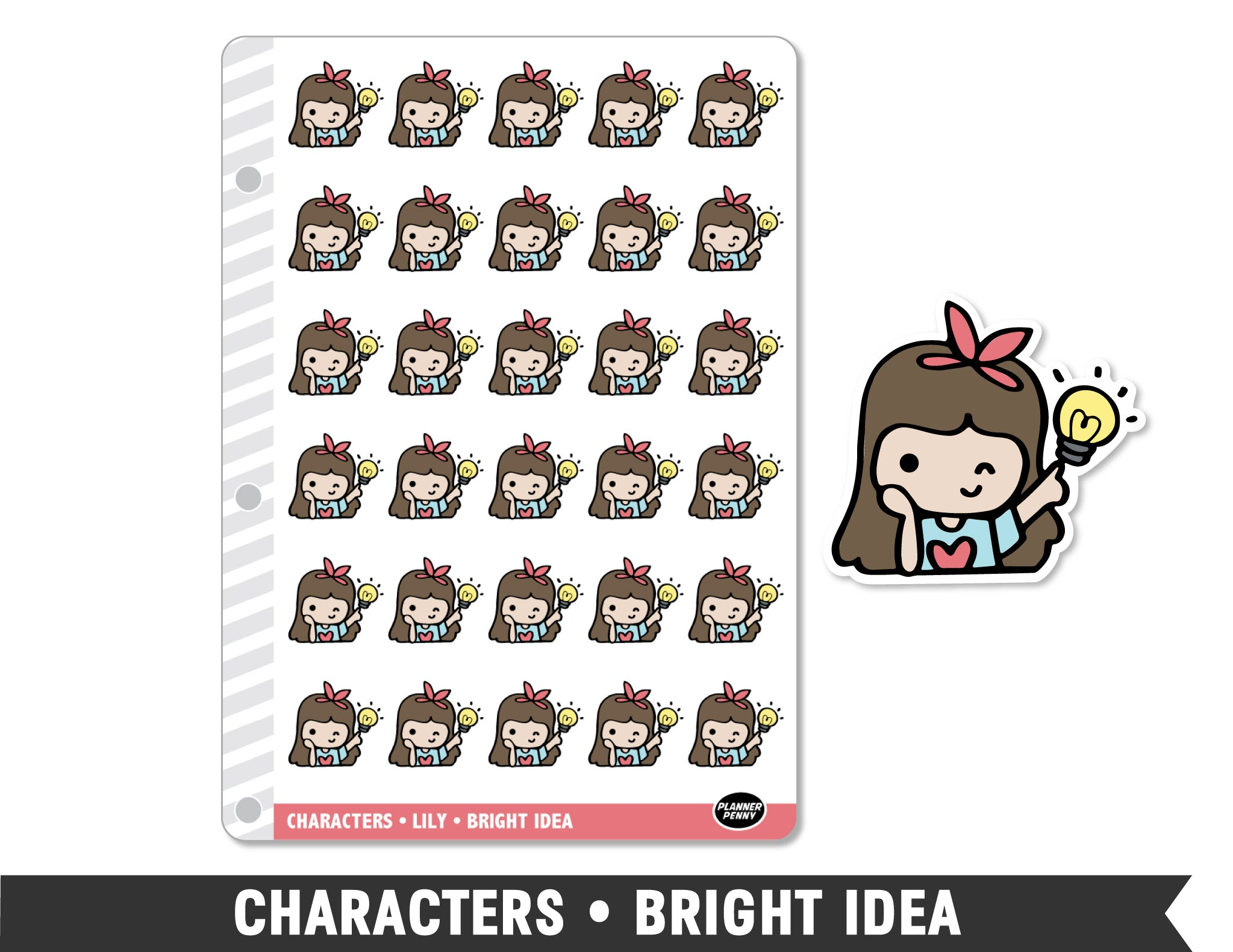 Characters • Bright Idea Planner Stickers - Planner Penny