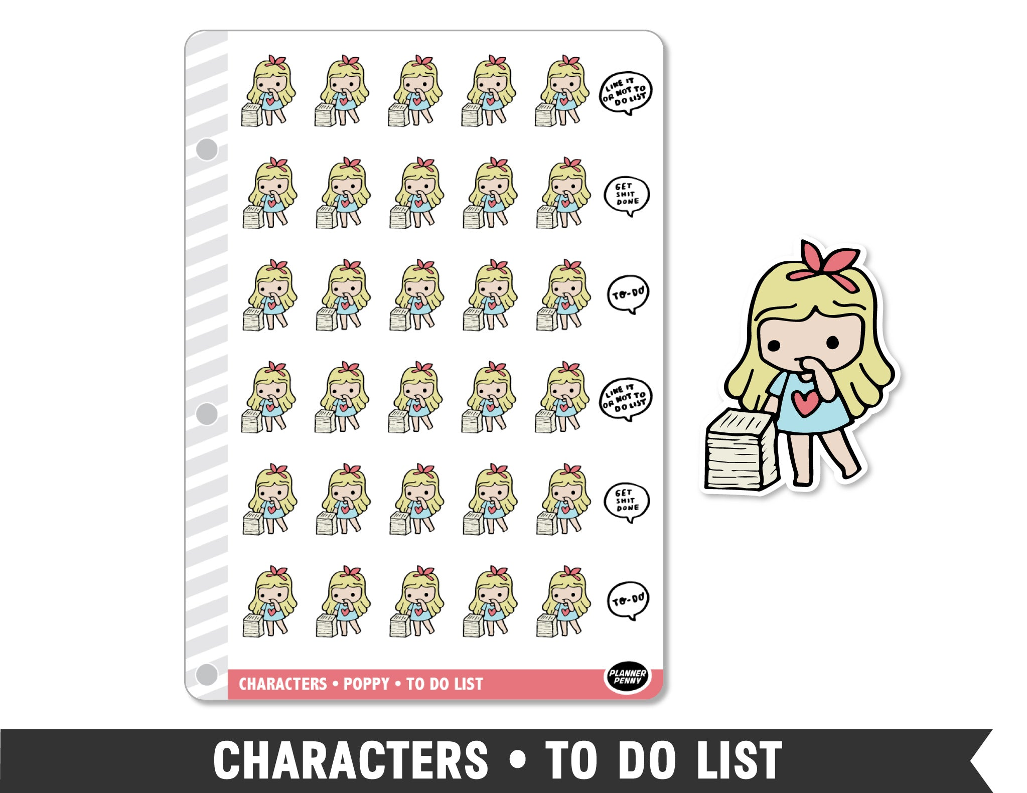 Characters • To Do List Planner Stickers - Planner Penny