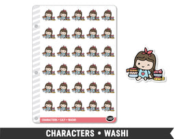 Characters • Washi Planner Stickers - Planner Penny