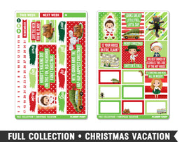 Full Collection • Christmas Vacation • Weekly Spread Planner Stickers
