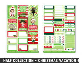 Half Collection • Christmas Vacation • Weekly Spread Planner Stickers - Planner Penny