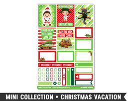Mini Collection • Christmas Vacation • Weekly Spread Planner Stickers
