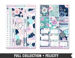 Full Collection • Felicity • Weekly Spread Planner Stickers - Planner Penny