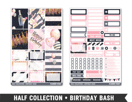 Half Collection • Birthday Bash • Weekly Spread Planner Stickers - Planner Penny