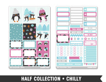 Half Collection • Chilly • Weekly Spread Planner Stickers