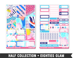 Half Collection • Eighties Glam • Weekly Spread Planner Stickers - Planner Penny