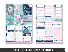 Half Collection • Felicity • Weekly Spread Planner Stickers - Planner Penny