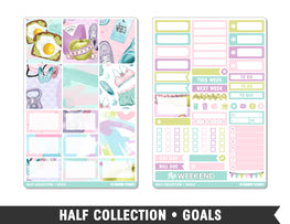 Half Collection • Goals • Weekly Spread Planner Stickers - Planner Penny