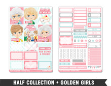 Half Collection • Golden Girls • Weekly Spread Planner Stickers
