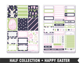Half Collection • Happy Easter • Weekly Spread Planner Stickers - Planner Penny