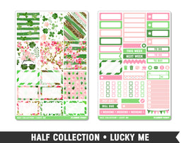 Half Collection • Lucky Me • Weekly Spread Planner Stickers - Planner Penny