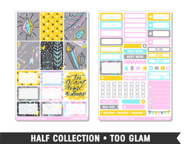 Half Collection • Too Glam • Weekly Spread Planner Stickers - Planner Penny