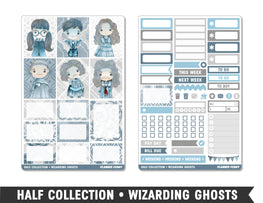 Half Collection • Wizarding Ghosts • Weekly Spread Planner Stickers - Planner Penny