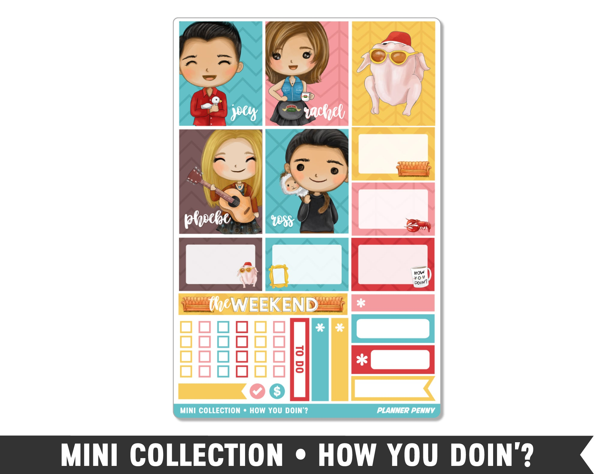 Mini Collection • How You Doin'? • Weekly Spread Planner Stickers - Planner Penny