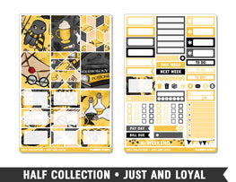 Half Collection • Just and Loyal • Weekly Spread Planner Stickers - Planner Penny