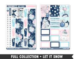 Full Collection • Let It Snow • Weekly Spread Planner Stickers