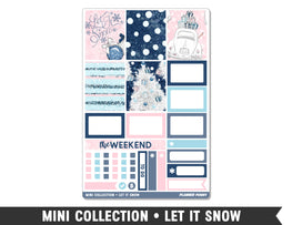 Mini Collection • Let It Snow • Weekly Spread Planner Stickers