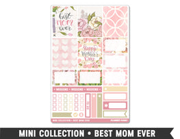 Mini Collection • Best Mom Ever • Weekly Spread Planner Stickers - Planner Penny