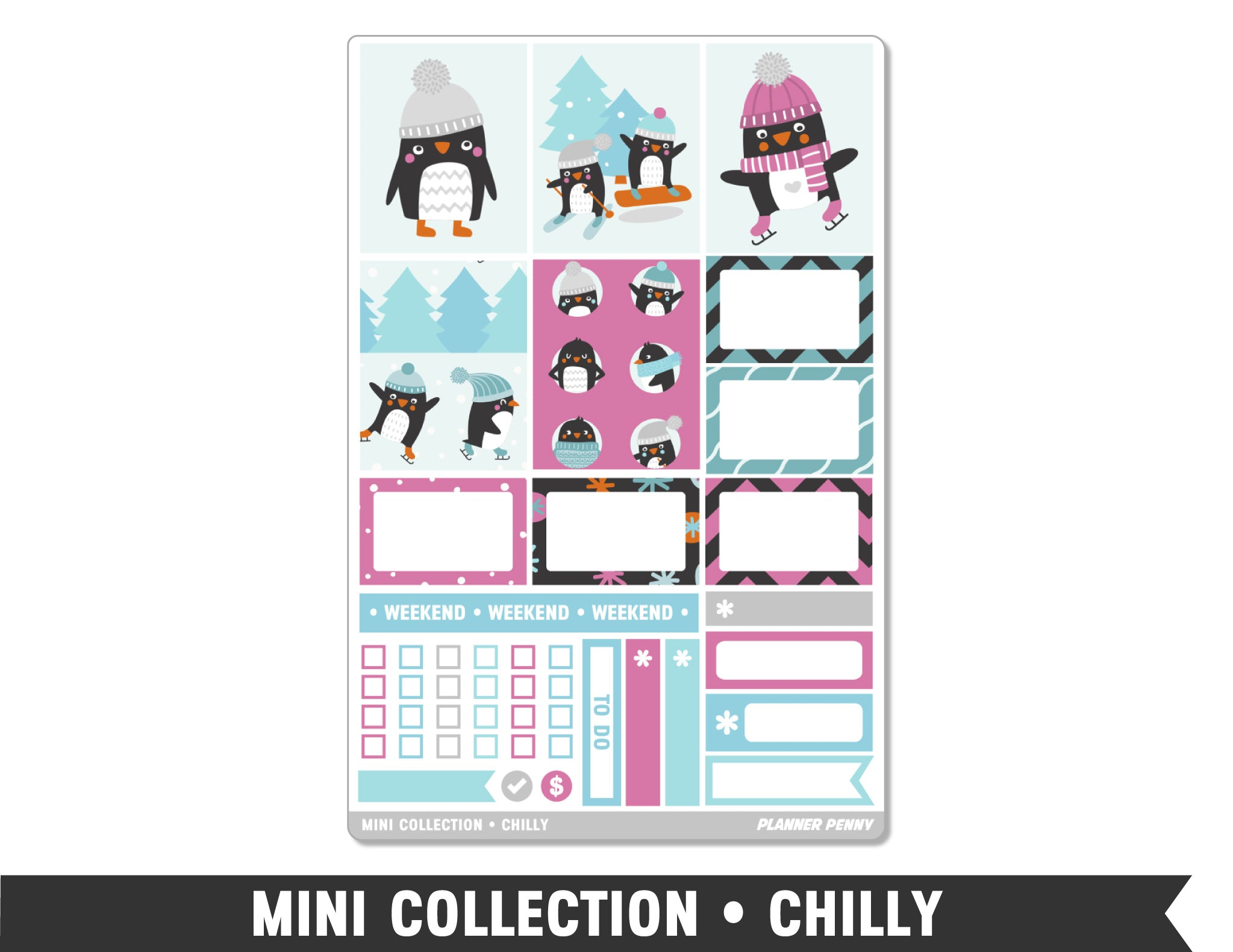 Mini Collection • Chilly • Weekly Spread Planner Stickers - Planner Penny
