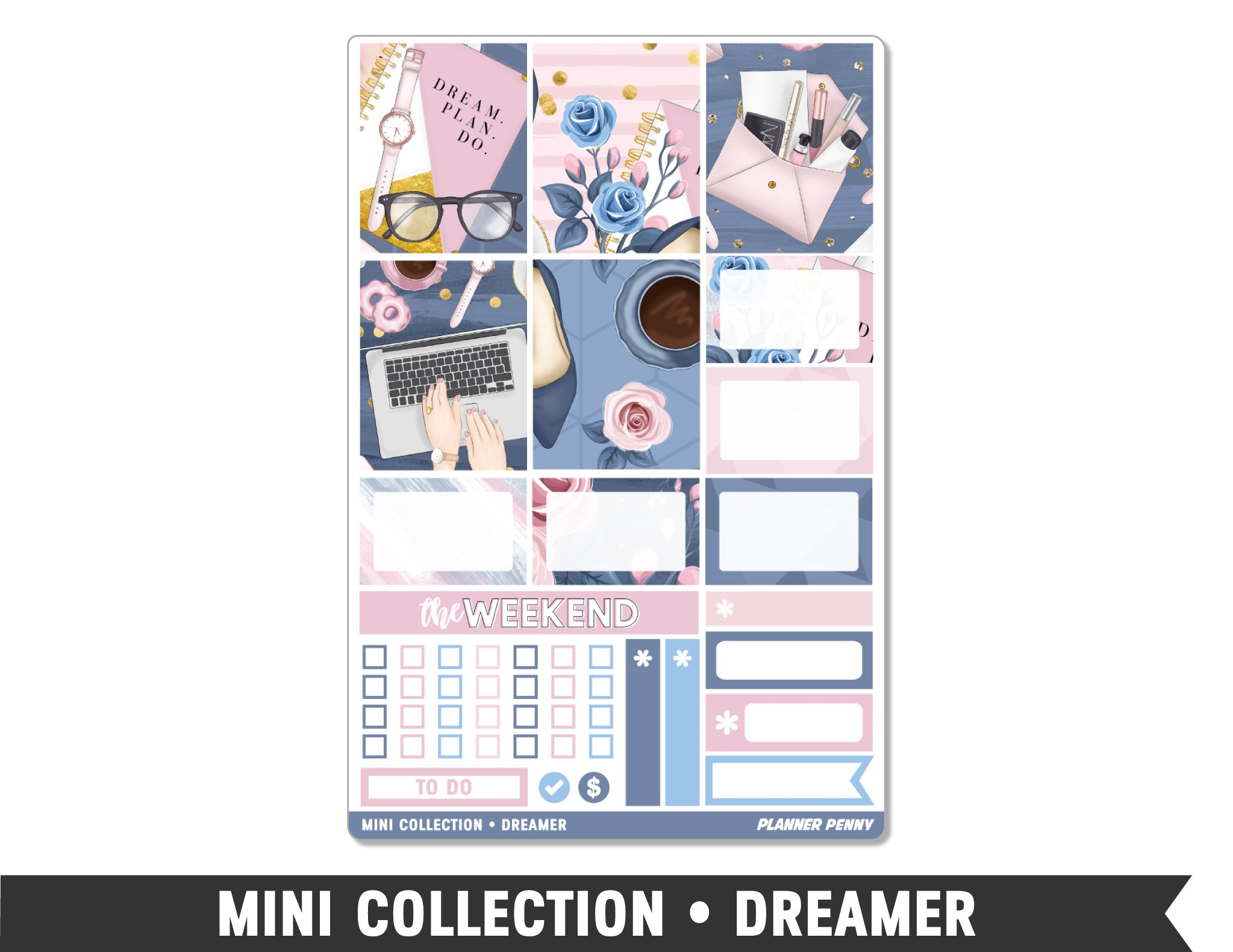 Mini Collection • Dreamer • Weekly Spread Planner Stickers - Planner Penny