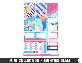 Mini Collection • Eighties Glam • Weekly Spread Planner Stickers - Planner Penny