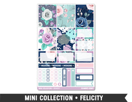 Mini Collection • Felicity • Weekly Spread Planner Stickers - Planner Penny