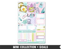 Mini Collection • Goals • Weekly Spread Planner Stickers - Planner Penny