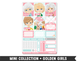 Mini Collection • Golden Girls • Weekly Spread Planner Stickers - Planner Penny