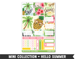 Mini Collection • Hello Summer • Weekly Spread Planner Stickers - Planner Penny