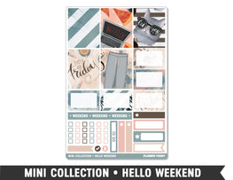 Mini Collection • Hello Weekend • Weekly Spread Planner Stickers - Planner Penny