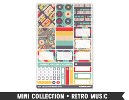 Mini Collection • Retro Music • Weekly Spread Planner Stickers - Planner Penny