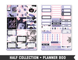 Half Collection • Planner Boo • Weekly Spread Planner Stickers - Planner Penny