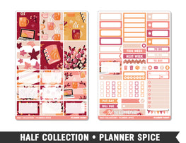 Half Collection • Planner Spice • Weekly Spread Planner Stickers - Planner Penny