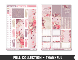 Full Collection • Thankful • Weekly Spread Planner Stickers - Planner Penny