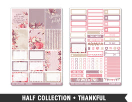 Half Collection • Thankful • Weekly Spread Planner Stickers - Planner Penny