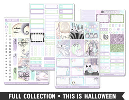 Full Collection • This Is Halloween • Weekly Spread Planner Stickers - Planner Penny