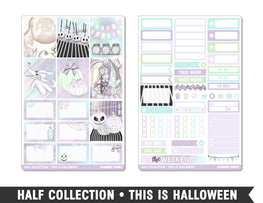 Half Collection • This Is Halloween • Weekly Spread Planner Stickers - Planner Penny