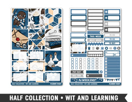 Half Collection • Wit and Learning • Weekly Spread Planner Stickers - Planner Penny