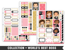 Collection • World's Best Boss Planner Stickers - Planner Penny