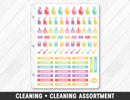 Cleaning • Cleaning Assortment Planner Stickers - Planner Penny