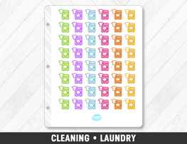 Cleaning • Laundry Planner Stickers - Planner Penny